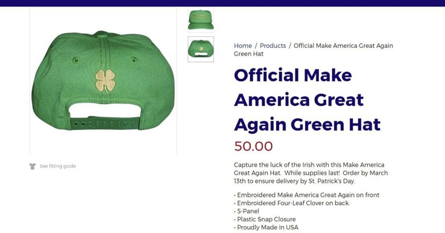 Donald Trump S St Patrick S Day Hats Have Four Leaf Clover
