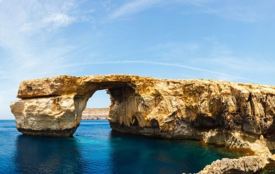 Malta's iconic Azure Window collapses into the sea