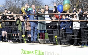 James Ellis bridge officially opened in east Belfast
