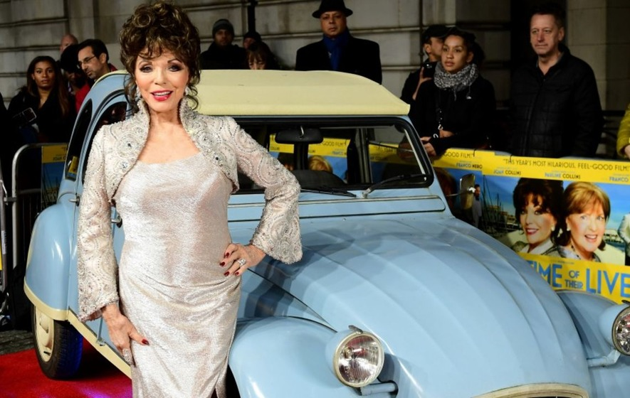 Joan Collins applauds two 'great, wonderful' roles for women in her latest film