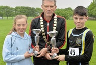 Amelia Kane the home banker in Irish Schools Cross Country Championships at Mallusk