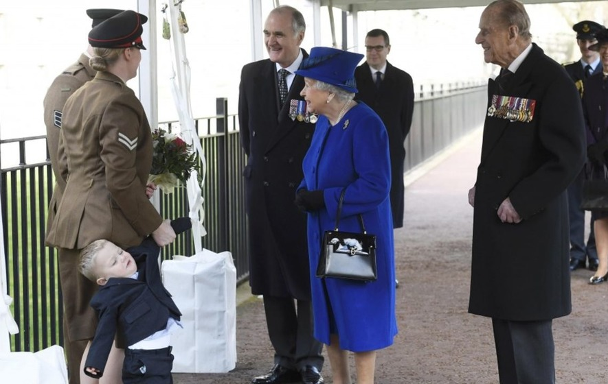 Watch: This toddler wasn't best pleased to meet the Queen