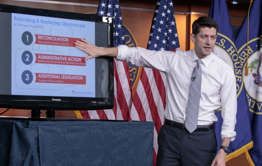 Someone should have told Paul Ryan not to use a PowerPoint presentation because he obviously became a meme