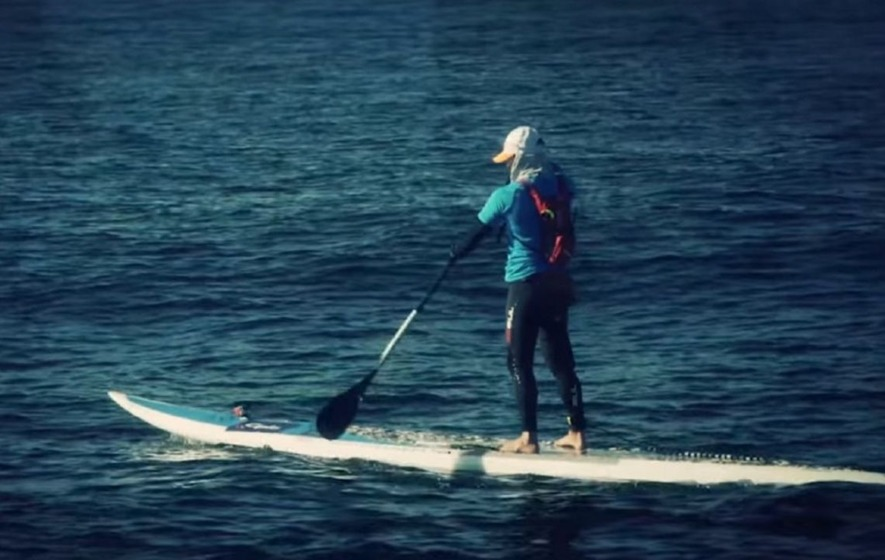 You're going to feel very lazy when you see how this man crossed the Atlantic Ocean