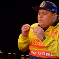 You need to see Charlie Sloth's Hot Ones spicy wing challenge