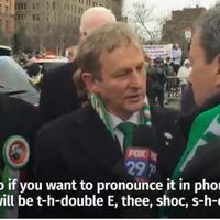 Watch Enda Kenny teach US reporter how to say Taoiseach