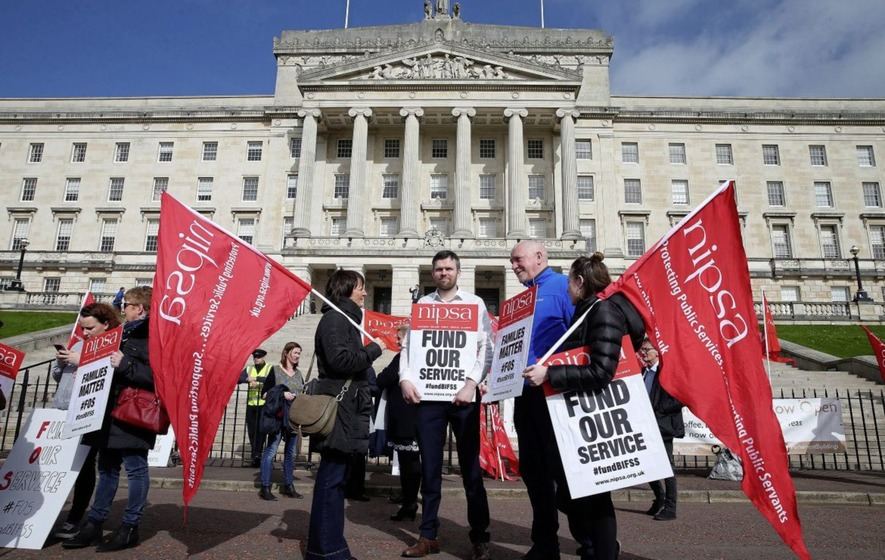 Stormont protesters call for family support service to be saved