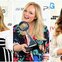 Holly Willoughby and the other winners at the Tric Awards