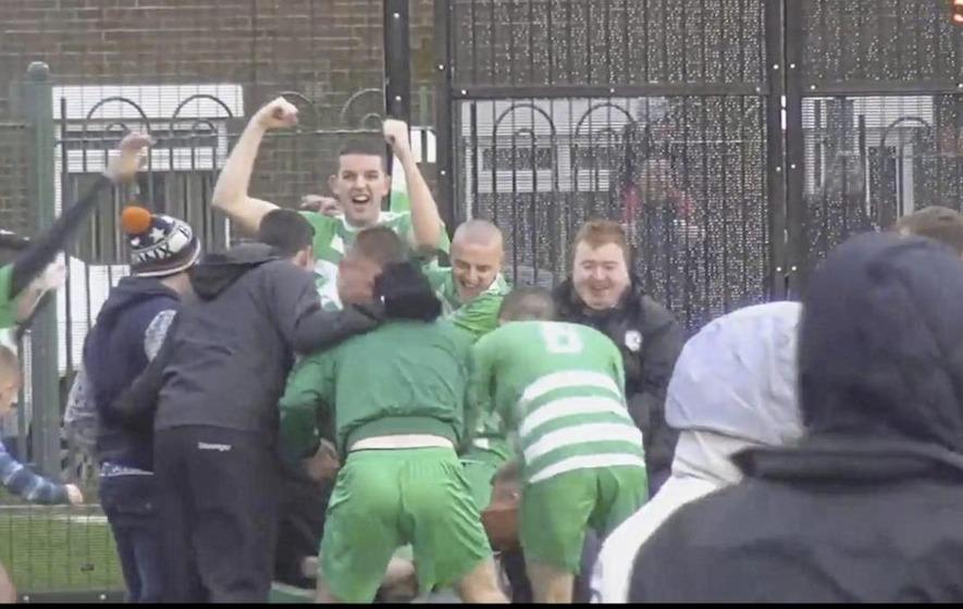Video: North Belfast amateur match goes viral after mirroring Barcelona v PSG result