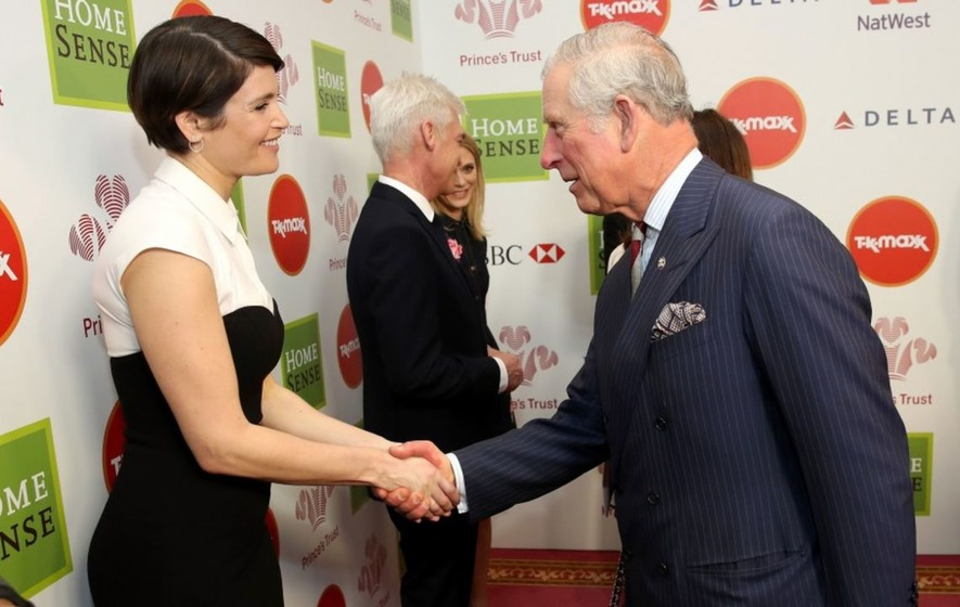 Gemma Arterton and Robert Lindsay among stars to meet Prince Charles at charity awards