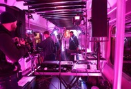 These DJs used a bucket-load of sensors to turn a train into a musical instrument