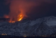 See the fiery show of lava and ash as Mount Etna's eruption turns into a volcanic blast