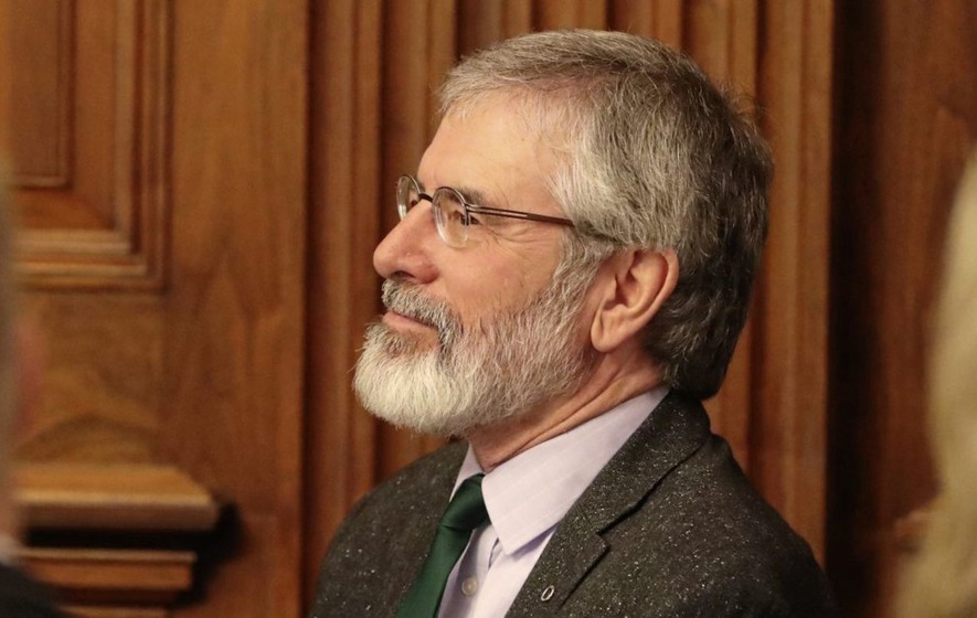 Gerry Adams tells St Patrick's Day event in Washington that 'direct rule is not an option'