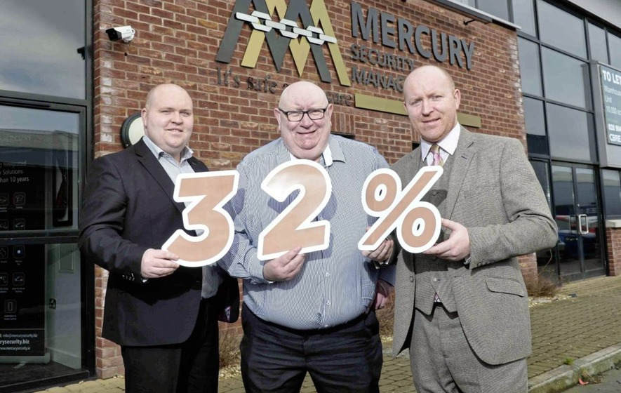 Lisburn security firm Mercury banks record sales