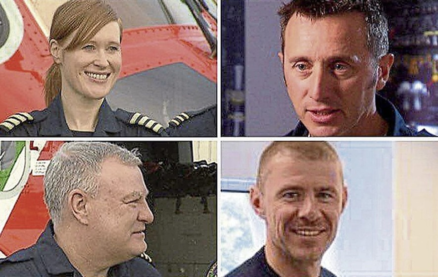 Search for missing crew relying on 'three hour window' as bad weather hampers recovery of bodies