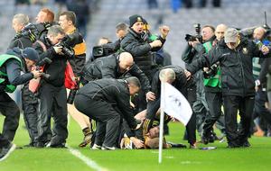 Slaughtneil midfielder Padraig Cassidy sending off was harsh says John Joe Kearney