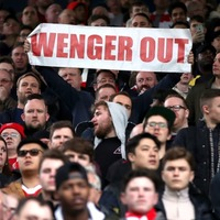 Even planes got involved in the debate over Arsene Wenger's future as Arsenal took on West Brom