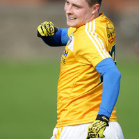 Gutsy Antrim hold out for League victory over Laois  as late CJ McGourty free helps ensure win