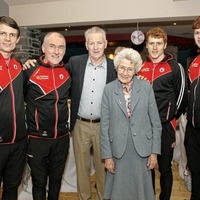 Tyrone centenarian congratulated by GAA stars and serenaded by Gerry Adams