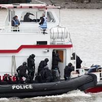 Watch armed police carry out an counter-terrorism exercise on the Thames
