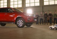 How many remote control cars does it take to pull a pickup? We found out