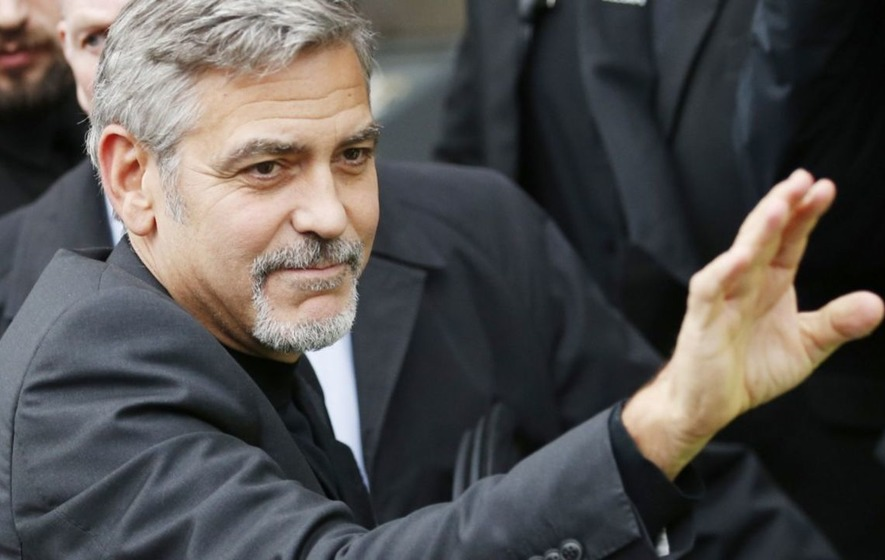 George Clooney surprises 87-year-old British fan with retirement home visit