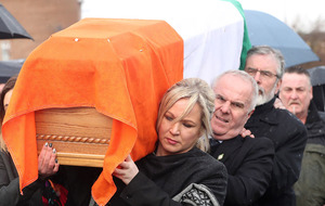 Martin McGuinness's remains return home to Bogside in Derry