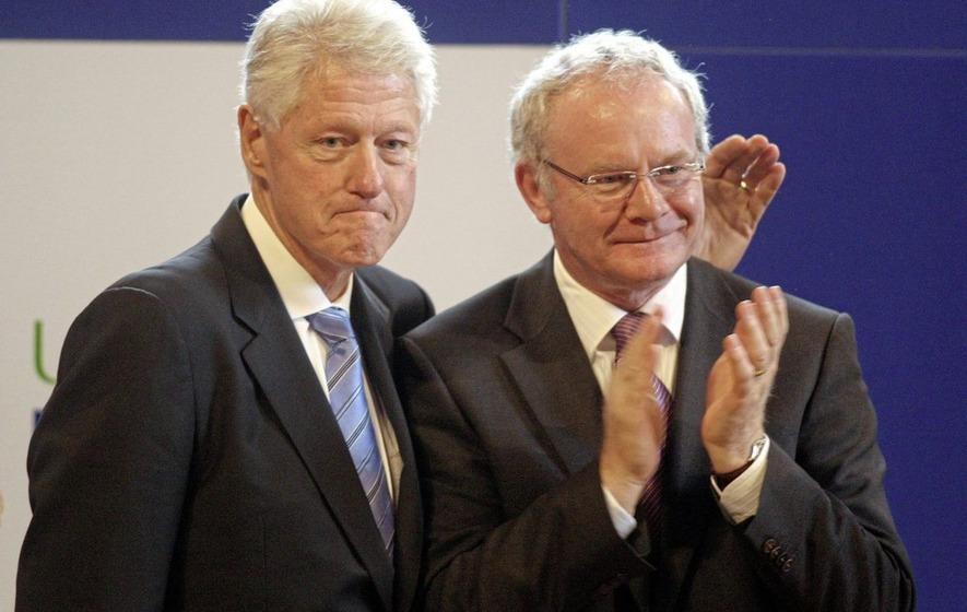 Former US president Bill Clinton praises Martin McGuinness