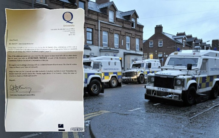 Queen's University slams Belfast nightclub's fake eviction notice stunt
