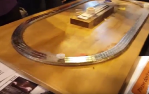 Why does this model train levitate as soon as it's cooled down?