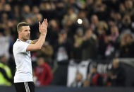 Lukas Podolski made up for a lengthy farewell speech with the perfect goodbye goal for Germany