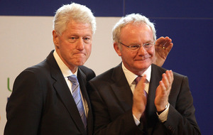 Video: Bill Clinton arrives in Dublin for Martin McGuinness's funeral