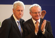 Video: Bill Clinton arrives in Dublin for Martin McGuinness's funeral