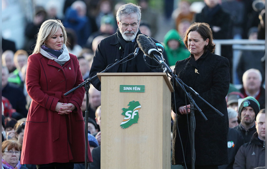Gerry Adams at Martin McGuinness's graveside: 'Respect our unionist neighbours. Reach out to them'