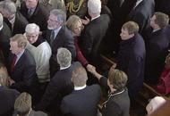 Arlene Foster and Michelle O'Neill share landmark handshake