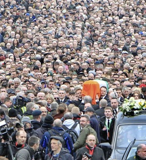 McGuinness funeral a mix of public pride and private grief