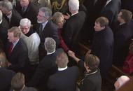 Arlene Foster applauded as thousands attend Martin McGuinness funeral
