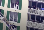 This painter was stranded dangling 12 storeys up