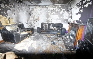 Teens injured in arson attack at family home