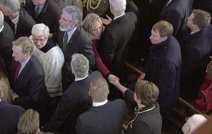 Deaglán de Bréadún: Foster's attendance at McGuinness funeral could be game-changer