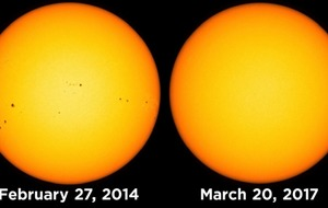 The sun is totally spotless at the moment and this is what it means