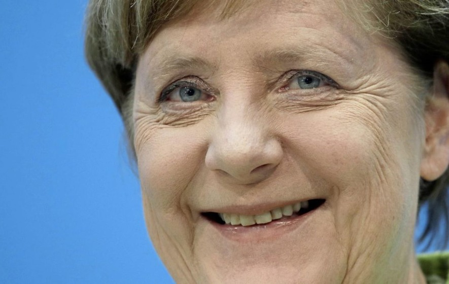 Merkel celebrates German election win, challenger deflated