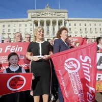 Protesters at Stormont call for Irish Language Act as political agreement breaks down