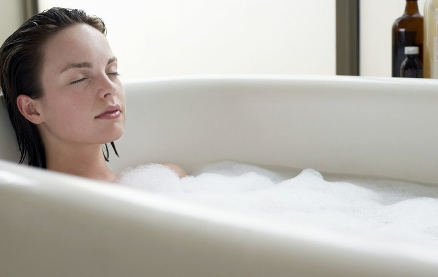 A long soak in the bath burns more calories than you would think ...