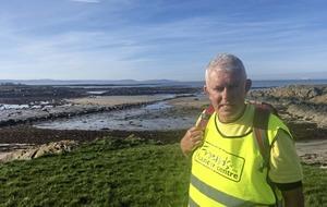 Retired Belfast lecturer takes on 4,000 km charity cancer trek across Irish coast