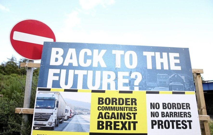 Image result for back to the future hard border in northern ireland