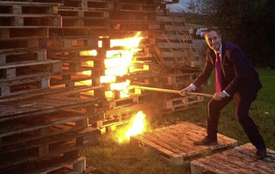 DUP minister lighting bonfire 'an offence' says Stormont official