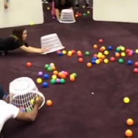 This youth centre brought childhood favourite Hungry Hippos to life and we really wanna play