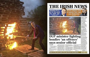 NIEA confirms DUP's Paul Givan was investigated for lighting bonfire