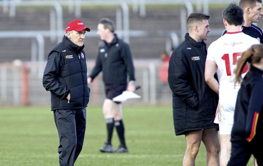 Tyrone boss Mickey Harte hasn't given up hope of reaching Division One decider